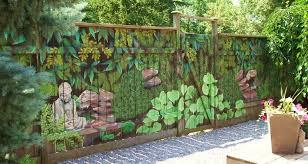 Pics Garden Decor Ideas Mural Sart Diy Home Decorating Garden Decor Great Diy Ideas 3 Jpg Garden Mural Decorative Garden Fencing Backyard Fences