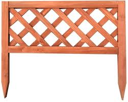 Yyfang Garden Fence Solid Wood Garden Fence Small Wooden Fence Guardrail Insert Design Courtyard Gardening Outdoor Decoration Barrier 4 Sizes Color Pink Size 60cmx51cm Amazon Co Uk Kitchen Home
