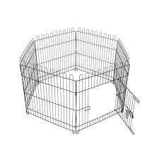 Dog Play Pen 6 Sided Folding Fence 63cm High