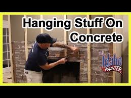 how to hammer a nail in concrete or