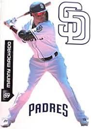 Teammate Manny Machado Fathead Padres Logo Set Official Mlb Vinyl Wall Graphics 17 Inch Sports Fan Wall Banners Amazon Com