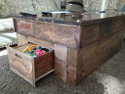 how to make coffee table of crates