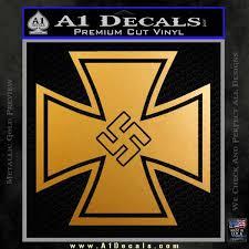 German Iron Cross Swastika Decal Sticker A1 Decals