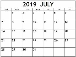 july 2019 calendar nz free printable