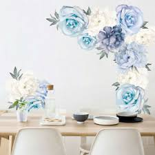 Floral Peony Flowers Wall Decal Removable Vinyl Sticker Bedroom Home Art Decor Ebay