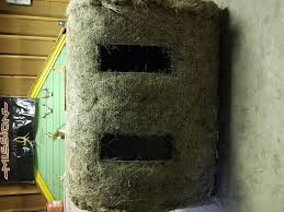 finally made a hay bale blind