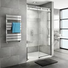 nova frameless sliding shower door at