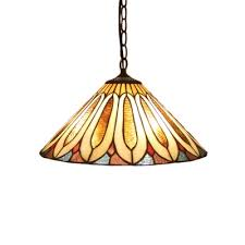 conical pendant light tiffany style
