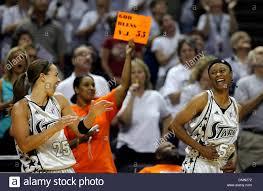 SilverStars teammates Vickie Johnson (right) and Becky Hammon ...