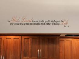 For God So Loved The World Beautiful Wall Decals