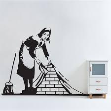 Banksy Maid In London Vinyl Wall Art Decal