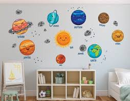 Solar System Wall Decal Planets Wall Decal Sun Nursery Wall Etsy