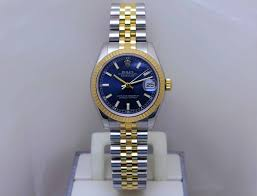 las datejust midsize two tone blue