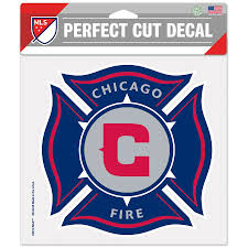 Chicago Fire Sc Wincraft 8 X 8 Color Die Cut Car Decal