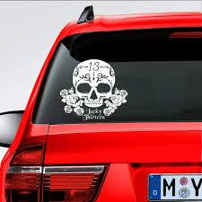 Amazon Com Mountainvalleyclimber Lucky Sugar Skull Vinyl Car Window Die Cut Decal For Car Truck 10 Automotive