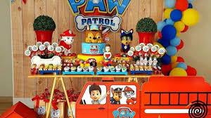 Fiesta De Paw Patrol Para Nino Decoracion De Mesa Principal Paw