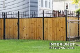 Wood Fence With Welded Metal Frame Interunet