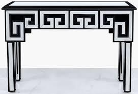 essen black trim mirrored console table