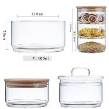 oem 3 tier stacking apothecary jars