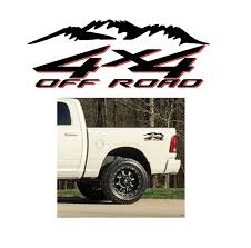 Dodge Ram 4 4 Mountains Off Road Sticker Set 2 Color Truck Decals Aftermarket Replacement Non Factory Custom Sticker Shop