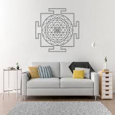 Sri Yantra Mandala Decal Wall Room Decor Art Vinyl Sticker Mural Yantra Logo Symbol Big Large Size Home Decoration Wl1416 Wall Stickers Aliexpress