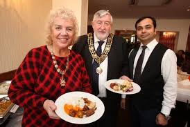 Mayoress Mary White, Mr Mayor Ivan White and Mr.Madan Pandey ...