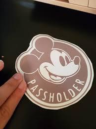 Disney Passholder Car Decal Etsy