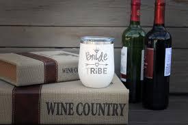 Personalized Wine Tumbler Bride Tribe Etchey