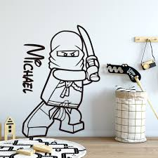 Ninjago Vinyl Wall Sticker Decal Kids Green Wall Decals Stickers Home Garden Map India Org