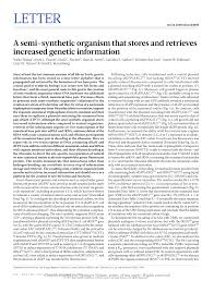 a semi synthetic organism that s
