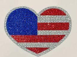 Amazon Com Heart America American Flag Patriotic Rhinestone Bling Laptop Scrapbook Car Bumper Wall Window Truck Vinyl Decal Sticker Handmade