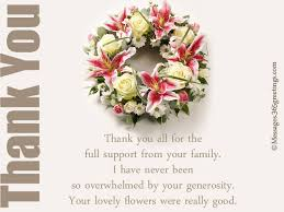 funeral thank you notes greetings com
