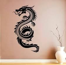 Dragon Vinyl Sticker Dragon Wall Decal Animals Vinyl Stickers Etsy