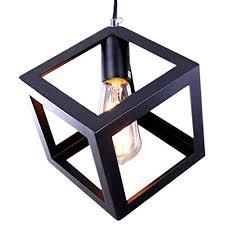 zf lamp pendant lighting cube black