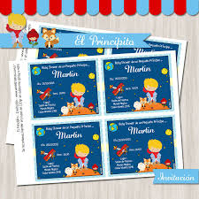El Principito Baby Shower Invitacion Rubio Invitaciones El