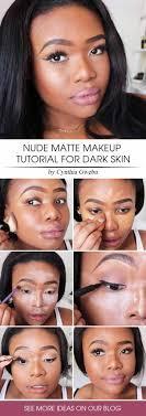 matte makeup tutorial for dark
