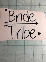 Bride Tribe Decal Team Bride Decal Bachelorette Party Bridal Etsy Bride Tribe Team Bride Bachelorette Party Decorations