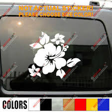 Hawaii Hibiscus Flower Hawaiian Decal Sticker Car Vinyl Pick Size Color B Ebay
