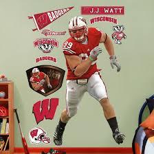 J J Watt Wisconsin Wall Decal Allposters Com