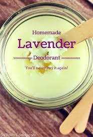 homemade deodorant recipe lavender