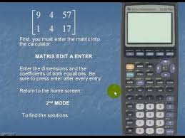linear equations using the ti83