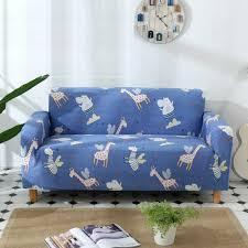 Kids Sofa Cover Cartoon Giraffe Zebra Hippo Elastic Slipcover Couch Cover Loveseat Cover Single Two Three Four Seater Cover Sofa Sofa Cover Aliexpress