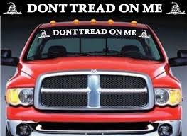 Unique Dont Tread On Me Gadsden Flag Windshield Banner Decal Sticker Check It Out Here Https Customstickersh Truck Decals Decals Stickers Rear Window Decals