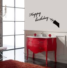 Housewares Wall Vinyl Decal Happy Birthday Lettering Congratulations Home Art Decor Kids Nursery Removable S Baby Room Decor Vinyl Wall Decals Stylish Stickers