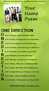 one direction poems