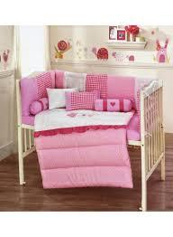 crib bedding set cotton pink