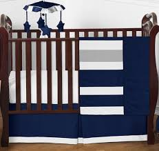 navy and grey stripe baby boy girl