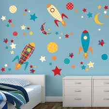 Kids Room Space Theme Space Rockets Wall Stickers