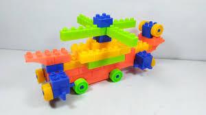 Đồ chơi lắp ráp 67 khối - xếp hình máy bay trực thăng có bánh xe -  helicopter block toy - YouTube