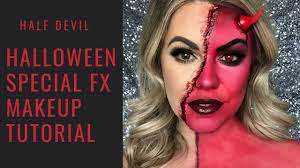 half devil makeup tutorial
